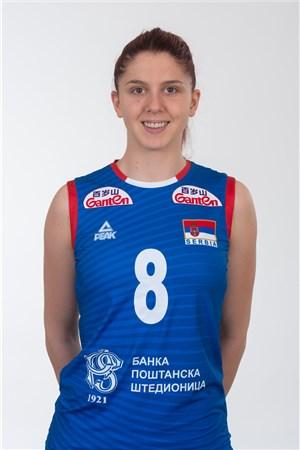 8スラジャナ・ミルコビッチ/Sladjana Mirkovic、バレーボールセルビア代表選手(東京オリンピック2020-2021出場)