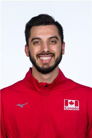 ライアン・スクレイター/Ryan Joseph Sclater、バレーボールカナダ代表選手(東京オリンピック2020-2021出場)
