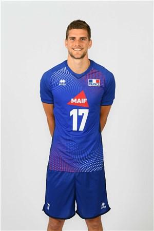 トレボール・クレブノ、CLEVENOT、バレーボールフランス男子選手(2020-2021東京オリンピック代表)