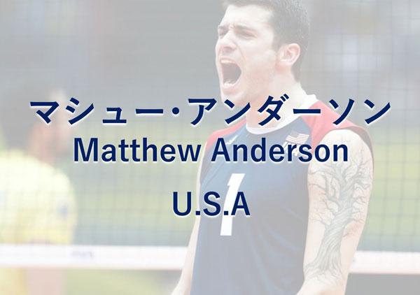 マシュー・アンダーソン,アメリカ,男子バレーボール選手
