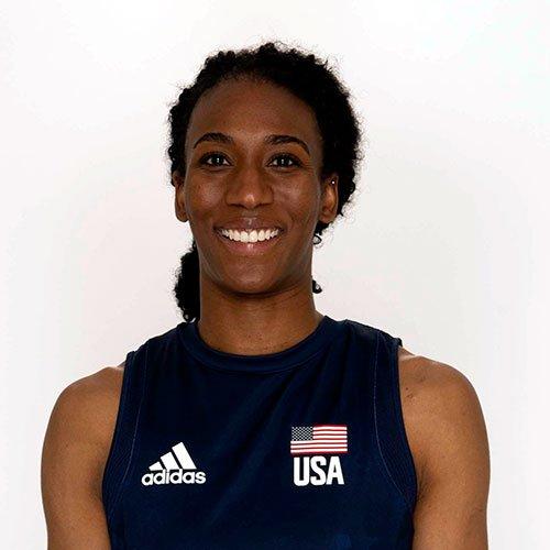 フォルケ アキンラデウォ、バレーボールアメリカUSA代表女子選手