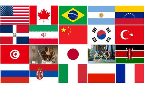 東京オリンピック・バレーボール出場全24か国の選手メンバーや身長・最高到達点ランキング